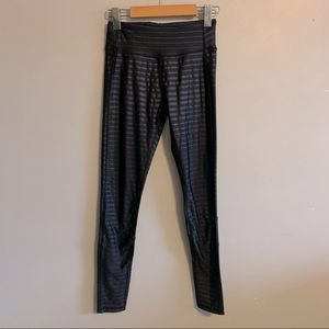 Kyodan black mesh striped leggings
